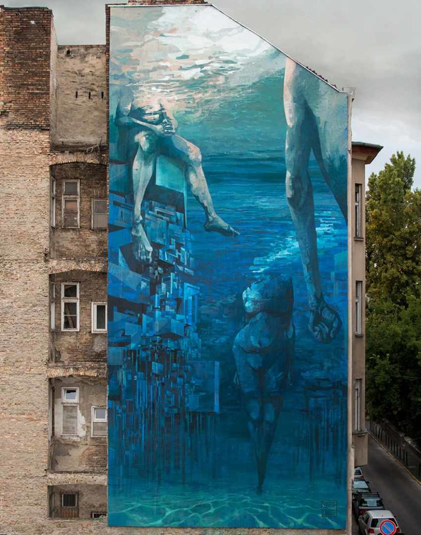 SEPE and CHAZME - Blue in Green, Szines Varos Festival 2016, Budapest, Hungary, photo credits of the artist