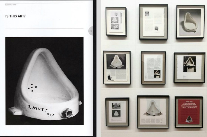 Duchamp's urinal original way copied by stieglitz