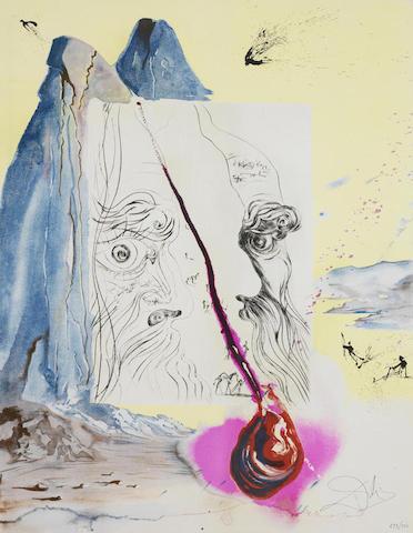 Salvador Dali-Sigmund Freud: Moise et le Monotheisme 10 folio-1974