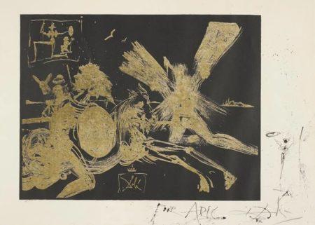 Salvador Dali-The Face in the Windmill-1965