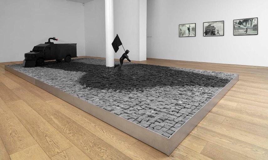 Sam Durant  - A Proposal for a Museum Public Fountain - Image via sadiecolescom