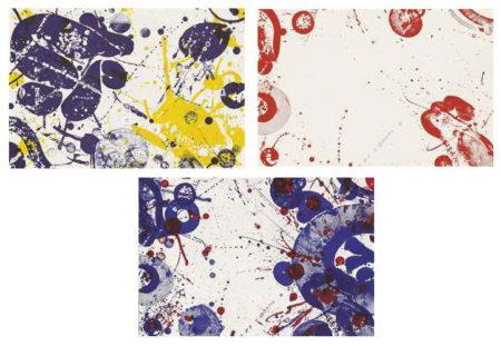 Sam Francis-Three Plates, from Pasadena Box-1964