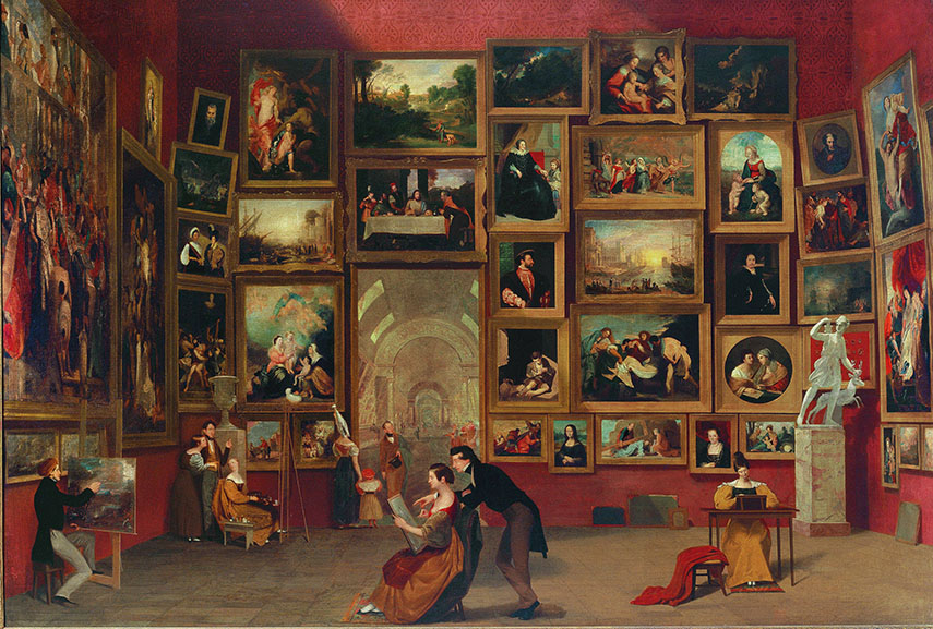 Samuel Morse - Gallery of the Louvre, 1833, via Wikimedia