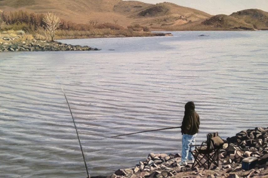 Sandra Mandelsohn Rubin - Detail of aquaduct Quail Lake 2012
