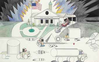 Saul Steinberg-First National Bank-1978