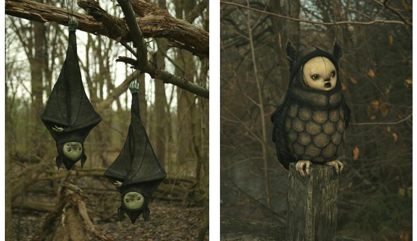Scott Radke - Bats! (print) / Owl (print)