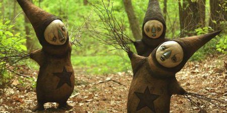 Scott Radke - Three sculptures on display - Image via pinterestcom