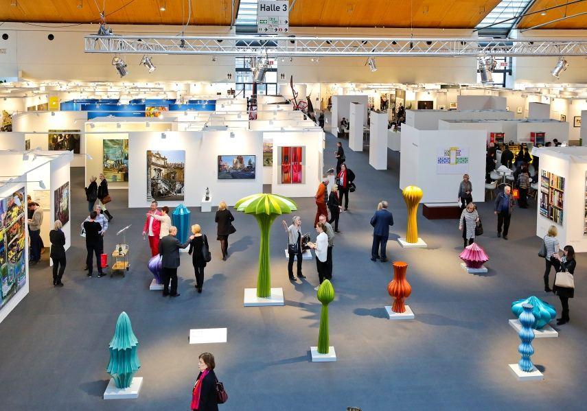Karlsruhe press photos of Herbert_Mehler works at galerie booth at art karlsruhe
