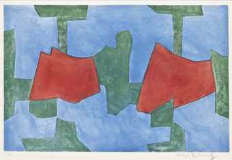 Serge Poliakoff-Composition in Blue, Green, and Red-1968