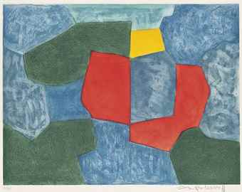 Serge Poliakoff-Composition in Green, Blue, Red and Yellow-1968