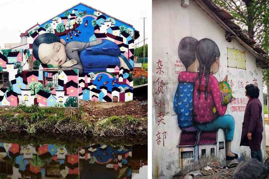 Street art and murals Seth Globepainter