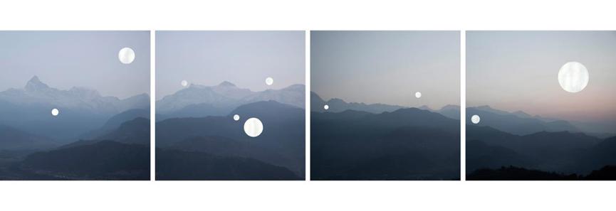 Shen Wei - Sarangkot, 2014, acrylic on archival pigment print