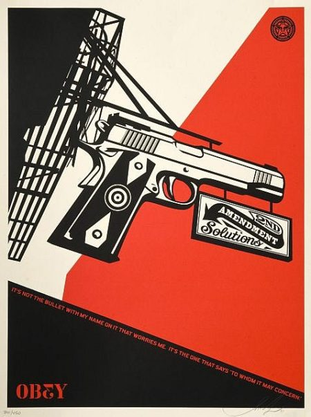 Shepard Fairey-2nd Amendment Solutions-2011