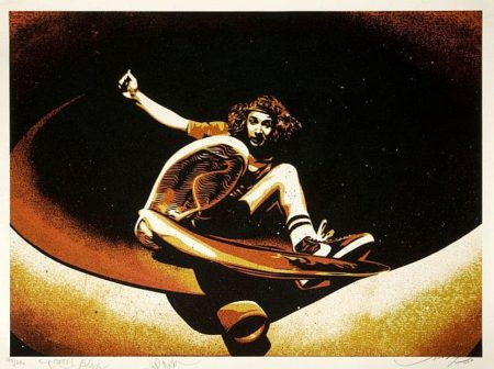 Shepard Fairey-Alva Frontside (Red)-2009