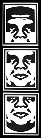 Shepard Fairey-Andre The Giant Triptych-2013