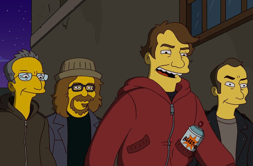 Shepard Fairey - Appearance on The Simpsons