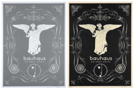 Shepard Fairey-Bauhaus (Silver and Black)-2008