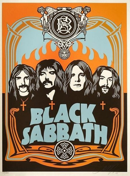 Shepard Fairey-Black Sabbath (Orange Edition)-2005