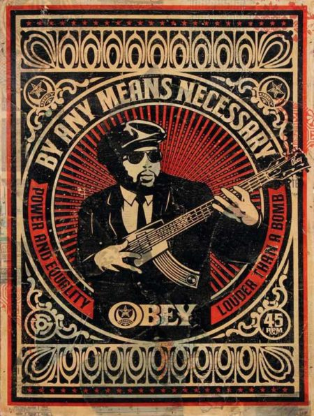 Shepard Fairey-By Any Means Necessary (Red)-2007