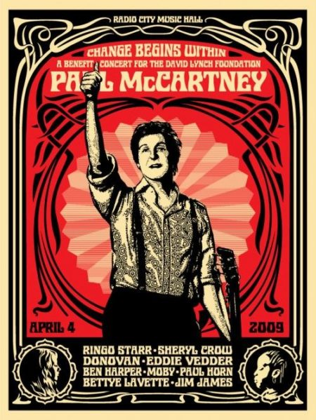 Shepard Fairey-Change Begins (Red Edition)-2009