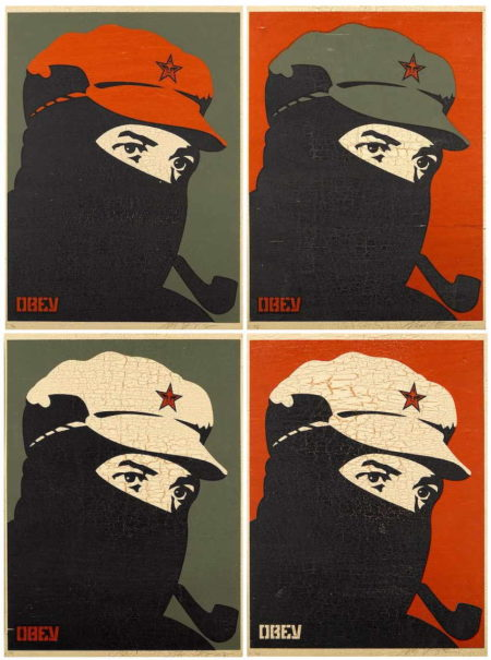 Shepard Fairey-Comandante 1, 2, 3 and 4-2002