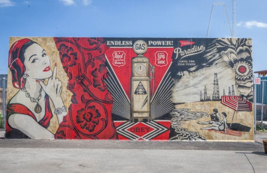Coney island art walls shepard fairey ben eine how and for Coney island mural