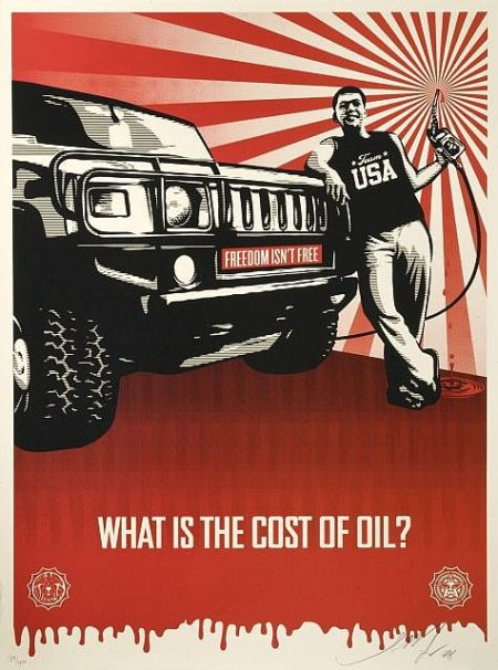 Shepard Fairey-Cost of Oil-2008