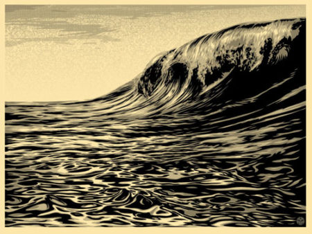 Shepard Fairey-Dark Wave (Cream)-2010