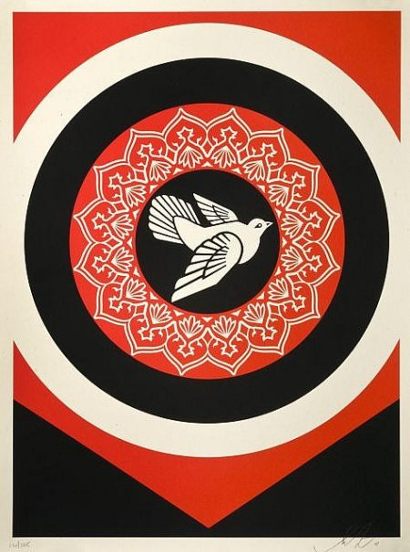 Shepard Fairey-Dove (Black Edition)-2011