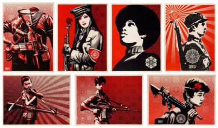 Shepard Fairey-Duality of Humanity Set / Angela Davis / Chinese Soldier-