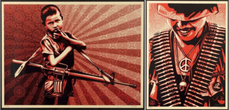 Shepard Fairey-Duality of Humanity-2009