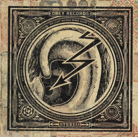 Shepard Fairey-Ear Drum HPM Album Cover-2008