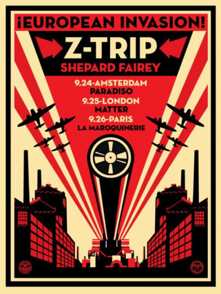 Shepard Fairey-European Invasion Z Trip-2007