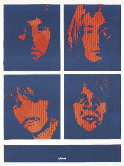 Shepard Fairey-Four Giant Beatles-1996