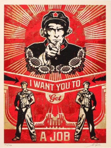 Shepard Fairey-Get A Job-2012