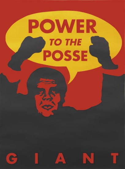 Shepard Fairey-Giant Power to the Posse-1996