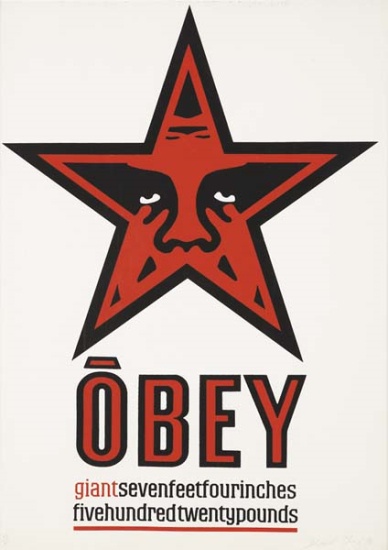 Shepard Fairey-Giant Star Obey-1996
