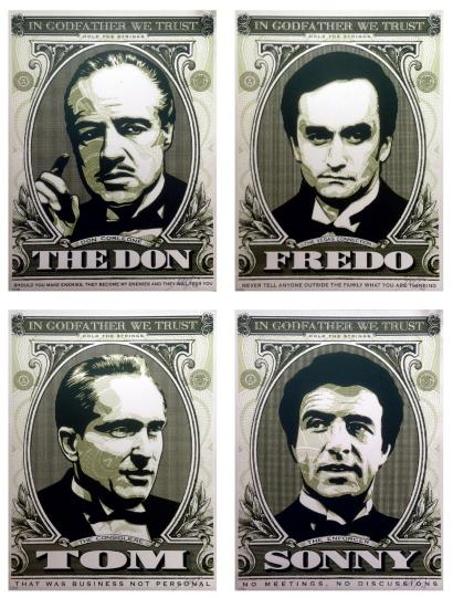 Shepard Fairey-Godfather Set: The Don/Sonny/Fredo/Tom-2006