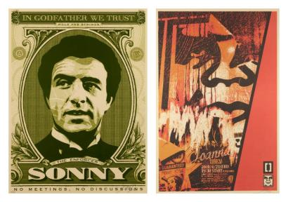 Shepard Fairey-Godfather Sonny/Playboy Offset-
