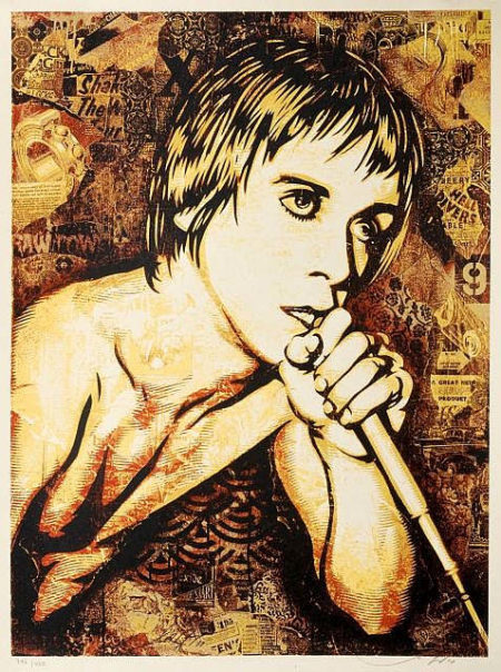 Shepard Fairey-Iggy Pop Canvas-2010