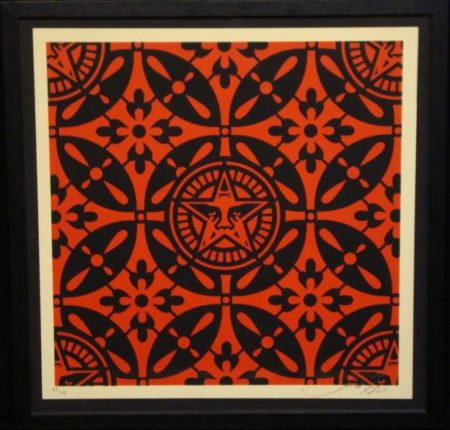 Shepard Fairey-Japanese Patterns (Black and Red)-2009