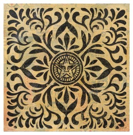 Shepard Fairey-Japanese Star HPM Collage (Black)-