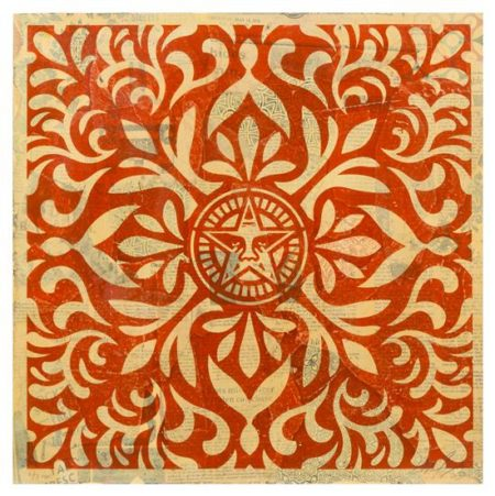 Shepard Fairey-Japanese Star HPM Collage (Red)-2010