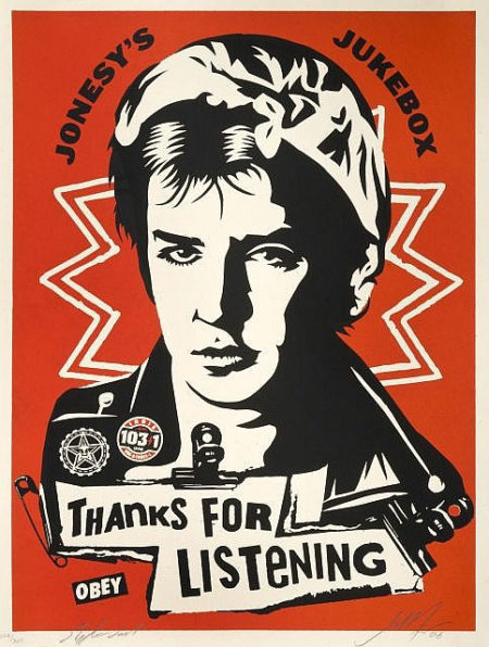 Shepard Fairey-Jonesy's Jukebox-2006