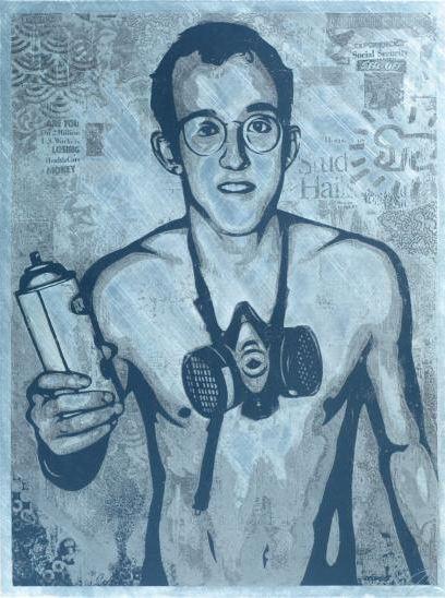 Shepard Fairey-Keith Haring-2011