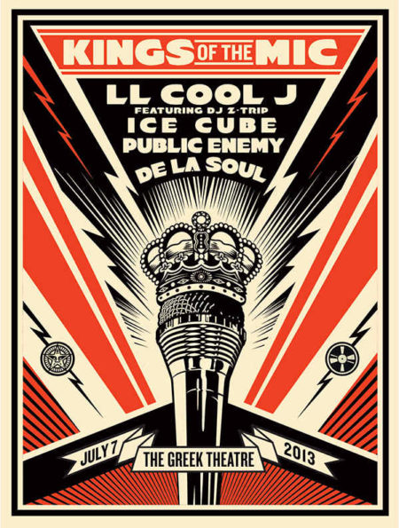 Shepard Fairey-Kings of the Mic-2013