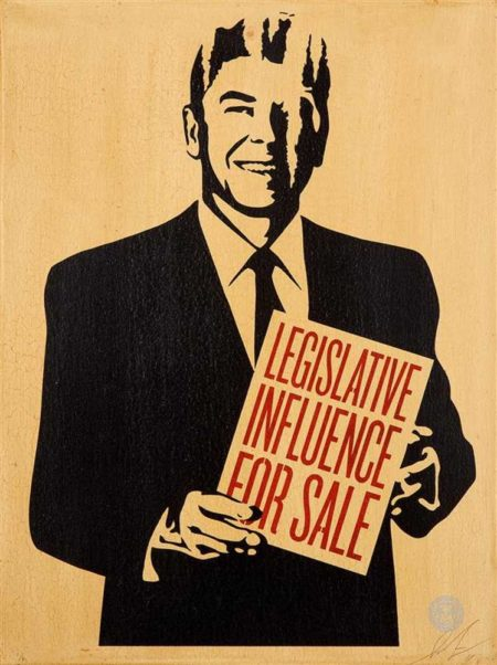 Shepard Fairey-Legislative Influence For Sale-2011