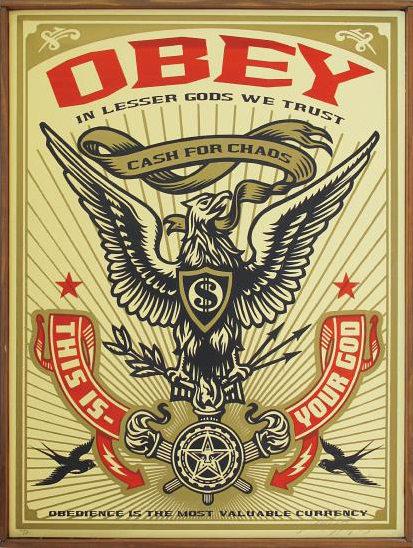 Shepard Fairey-Lesser Gods Eagle-2003
