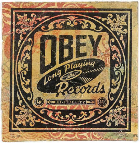Shepard Fairey-Long Playing Records-2010