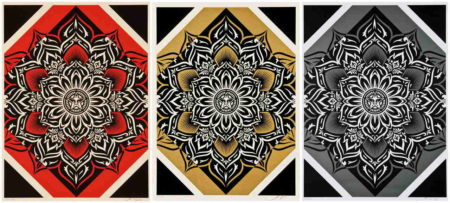 Shepard Fairey-Lotus Diamond (Red/Gold/Silver)-